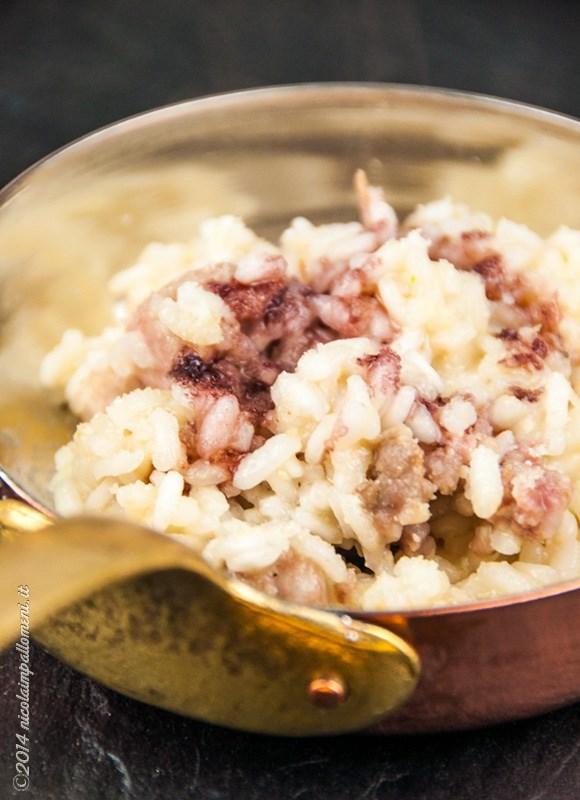 Risotto con salsiccia e riduzione di Buttafuoco