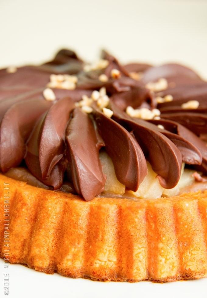 Torta cioccolato e pere senza glutine e senza lattosio