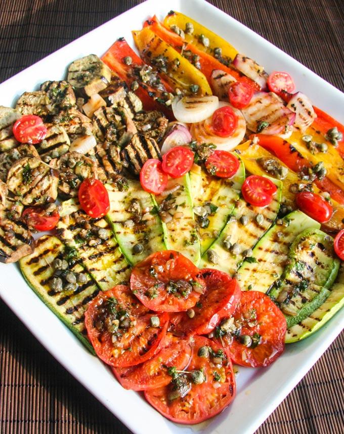 Ricetta salsa per verdure grigliate o alla piastra su for Ricette di verdure